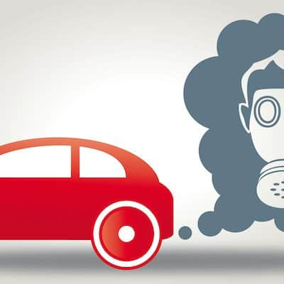 emissions-cheating cars are harmful to health - Illustration