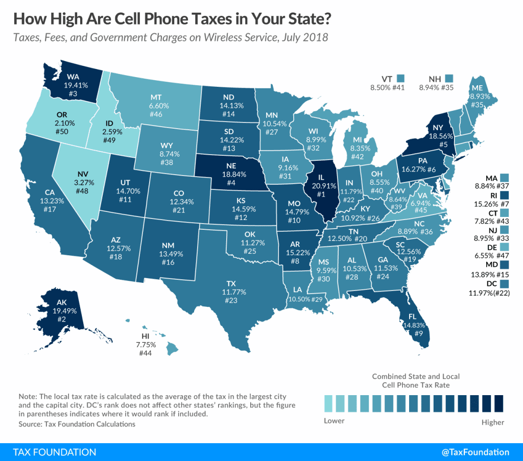 How high are cell phone taxes in your state?